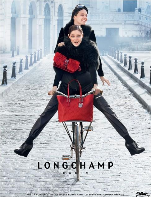 Coco Rocha et Emily DiDonato pour la collection automne-hiver 2012-2013 de Longchamp