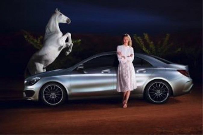 Collaboration Mercedez Bens et Karlie Kloss