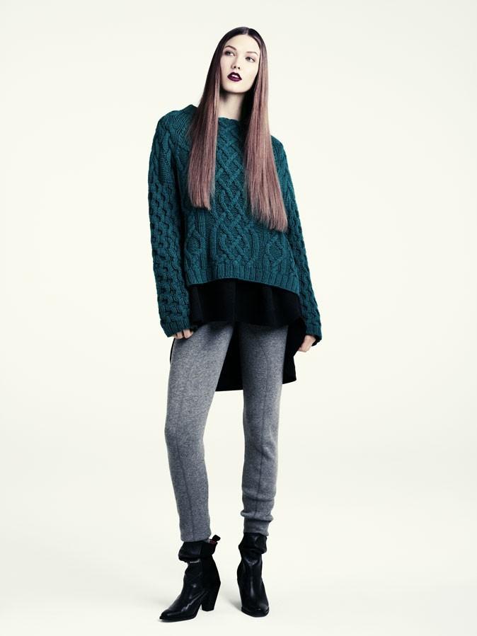 Collection hiver 2012 H&M : Un look très décontracté avec ce pull en maille XXL