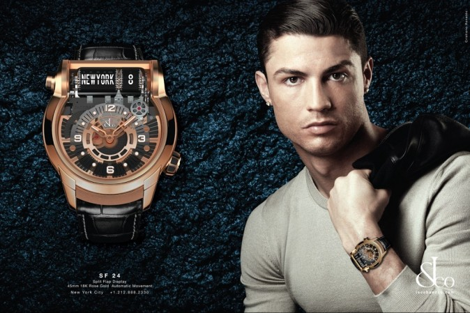 Cristiano Ronaldo, nouvelle égérie des montres Jacob & Co