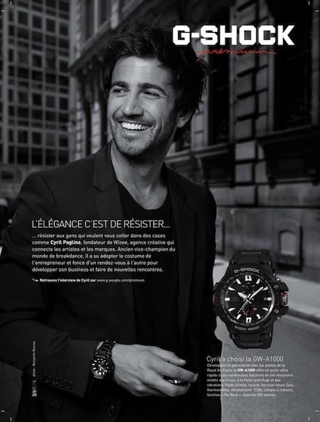Cyril Paglino pour les montres G-Shock Premium