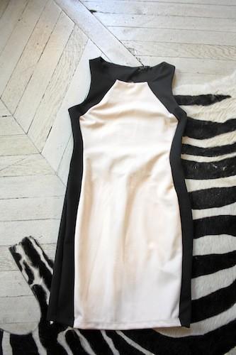 Robe découpe noire et beige, New Look 29,99 €