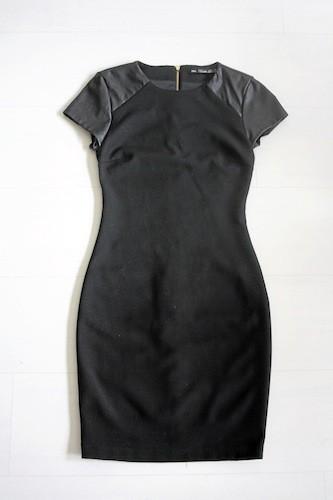 Robe manches similicuir, Zara 39,95 €