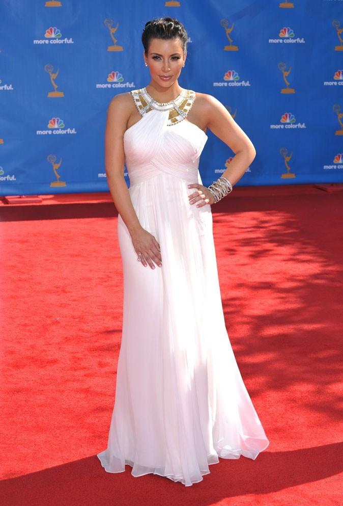 Kim Kardashian : une robe de déesse grecque Marchesa !