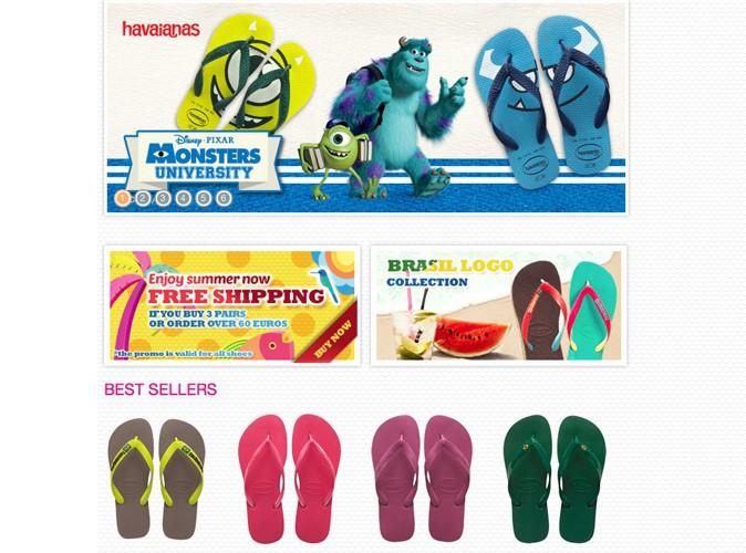 Havaianas en bleu ou vert. 17,90 €.