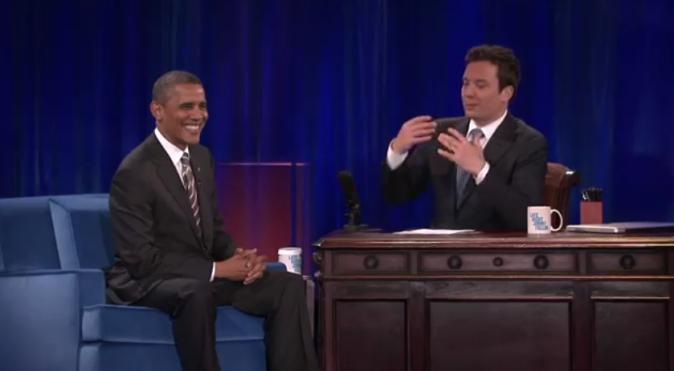 Barack Obama sur le plateau de Late Night with Jimmy Fallon