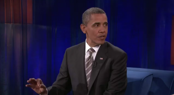 Barack Obama sur le plateau de Late Night with Jimmy Fallon