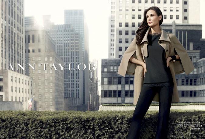 Demi Moore pour Ann Taylor sur les toits de New York