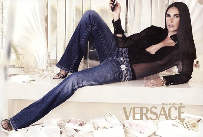 Egérie Versace en 2005