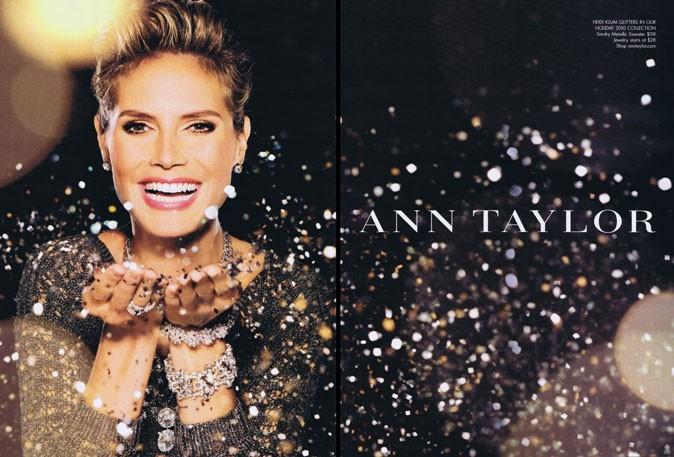 Heidi Klum pour Ann Taylor et la campagne de Noël