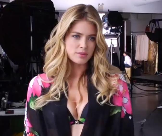 Doutzen Kroes pour the amazing bra de Victoria's Secret !