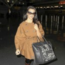 Kourtney Kardashian porte le sac Luggage de Céline