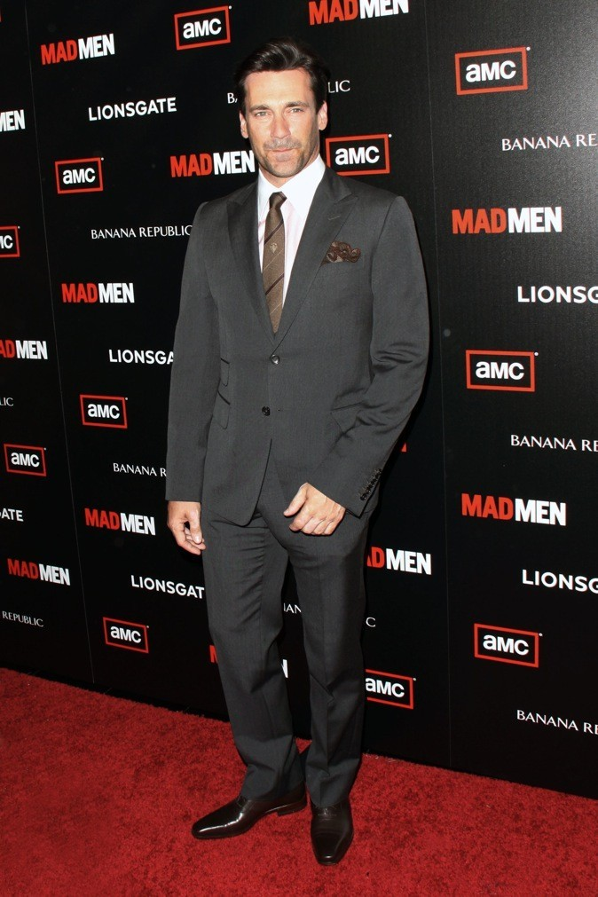 2010 : John Hamm lors de la Première de la saison 4 de Mad Men !