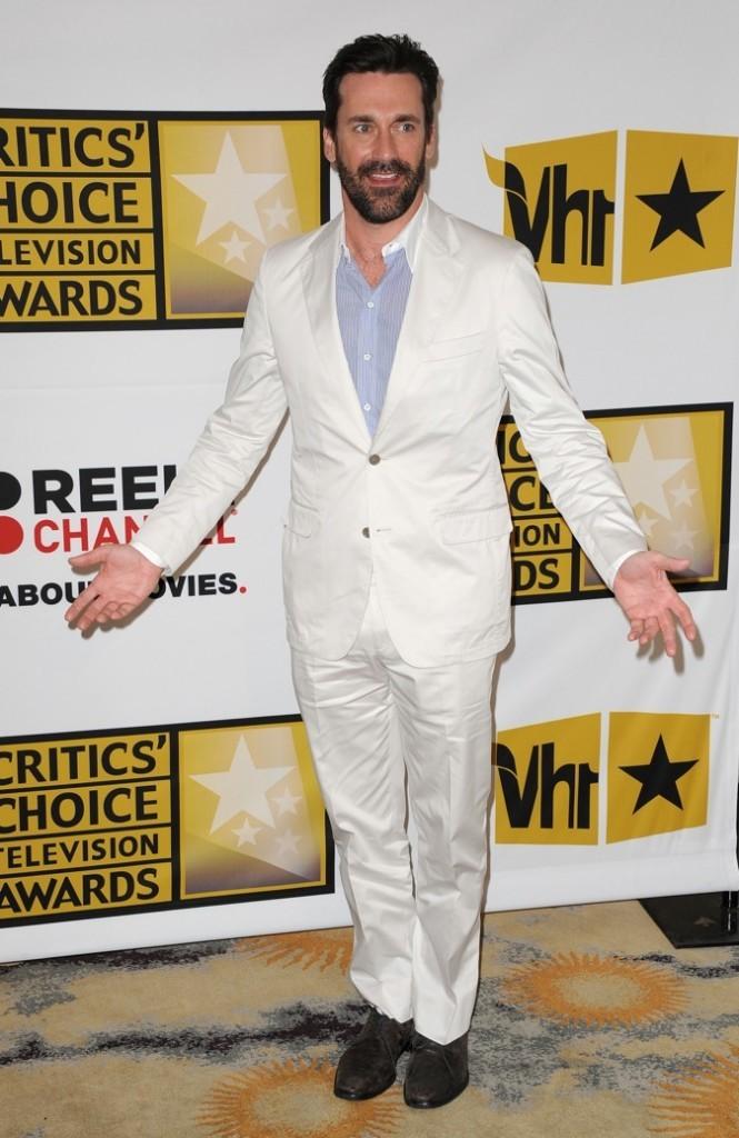 2011 : John Hamm lors des Critics choice television awards !