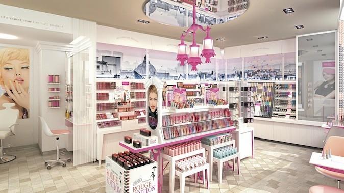 La première boutique Bourjois, Passage du Havre, 75009 Paris