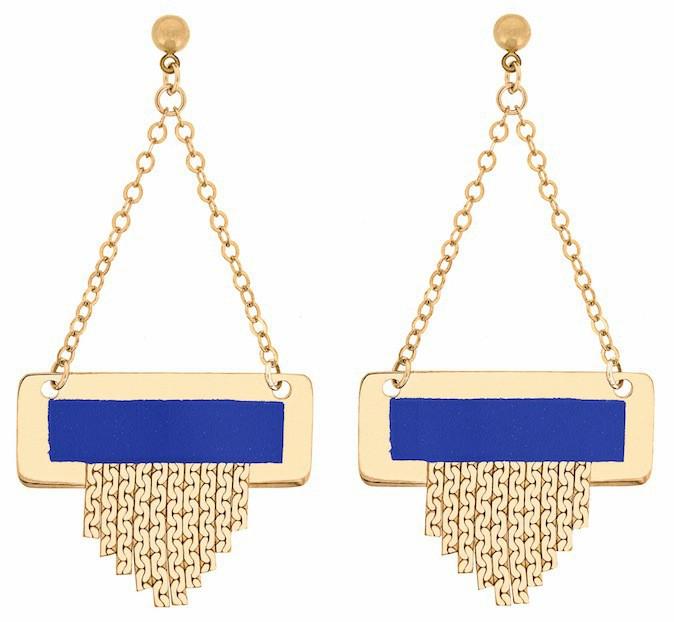 Boucles d'oreilles plaquées or, Mademoiselle S 100 €
