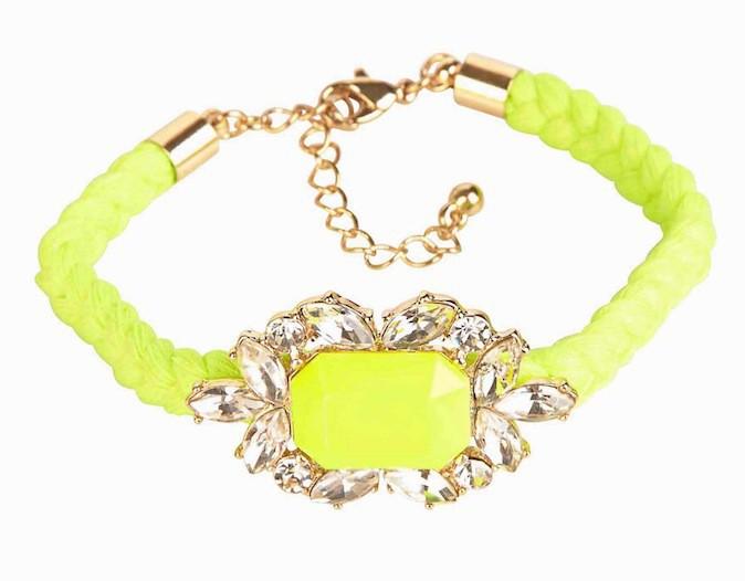Bracelet corde et strass, Forever 21 5,90€