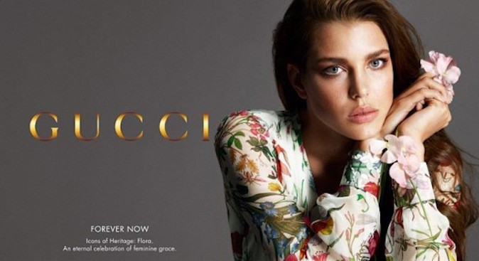 Charlotte Casiraghi pour Gucci Forever Now !
