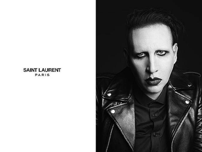 Marilyn Manson pour Saint Laurent Paris !