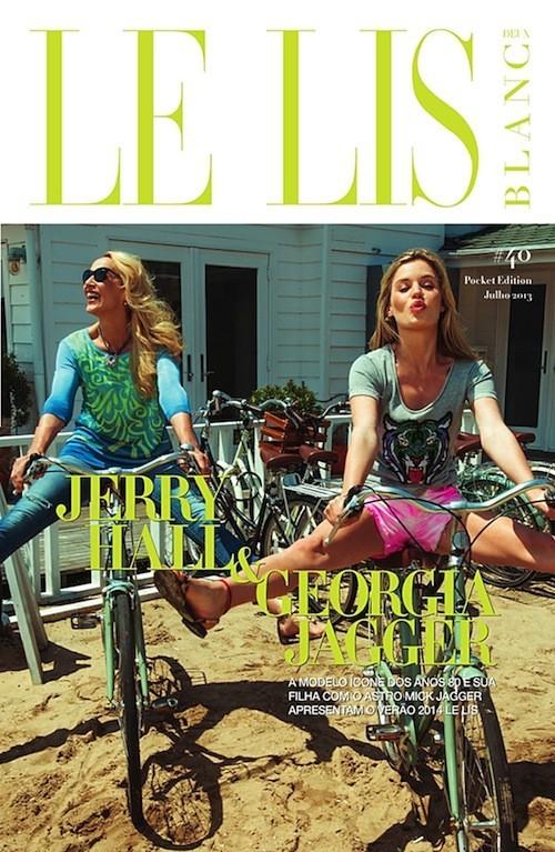 Mode : Georgia May Jagger : une beauté envoûtante et décontractée en compagnie de sa mère pour Le Lis Blanc !
