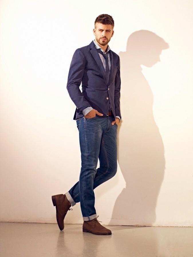 Мужские коричневые туфли под джинсы