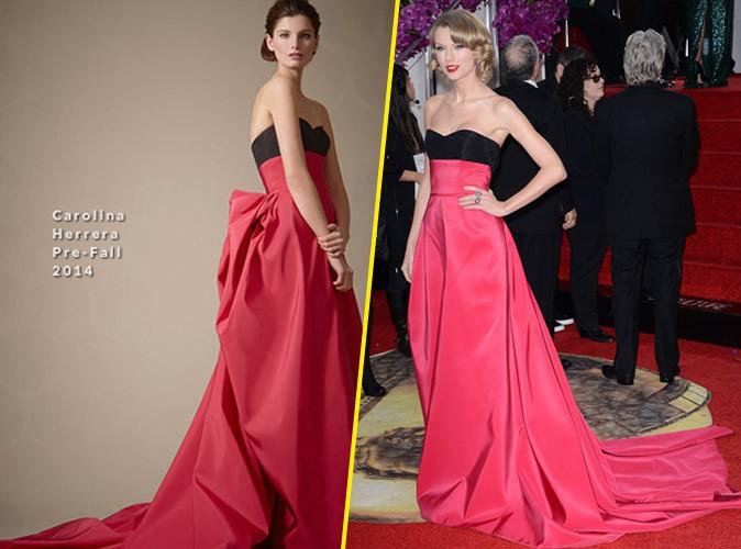 Taylor Swift en Caroline Herrera