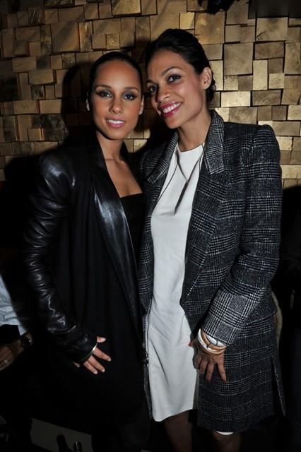 Alicia Keys et Rosario Dawson