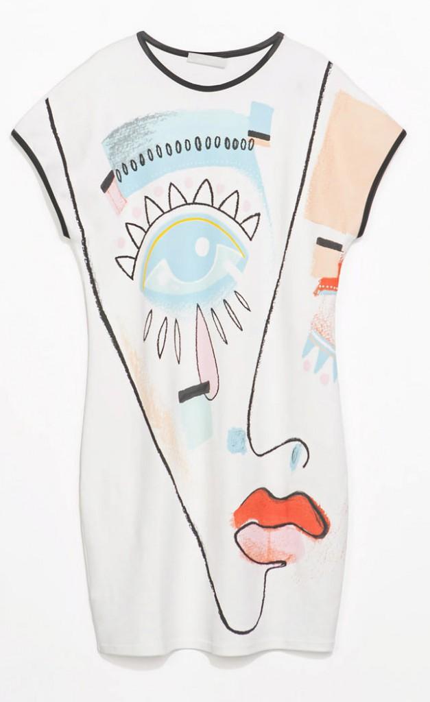 Visage peint, Zara 29 €