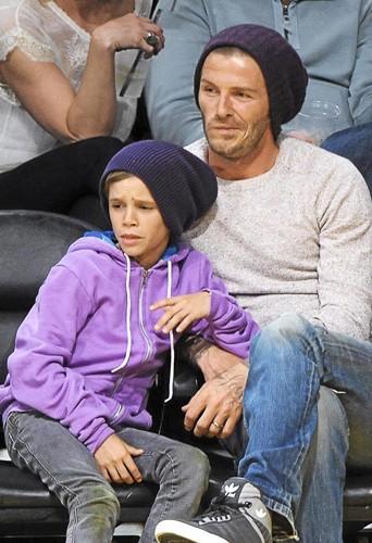 David Beckham & Romeo : Les gros bonnets de la mode