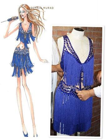 Costume de Jennifer Lopez by Zuhair Murad