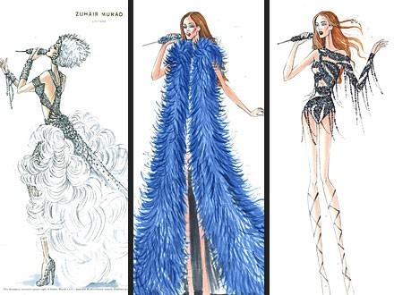 Costumes de Jennifer Lopez by Zuhair Murad