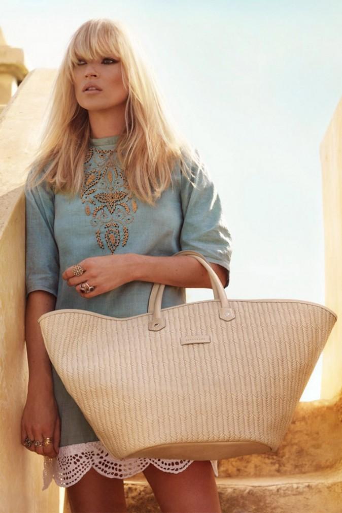 Mode : Kate Moss et un panier Longchamp