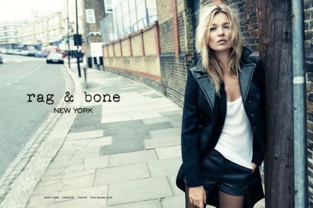 Kate Moss égérie de charme pour Rag& Bone.