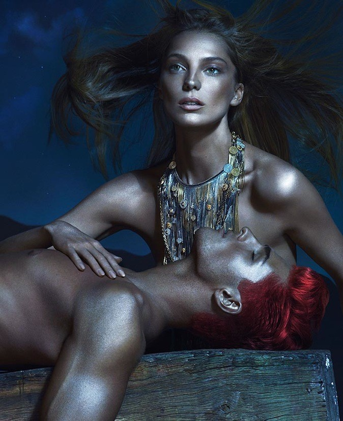 Daria Werbowy et Kacey Carrig pour Versace