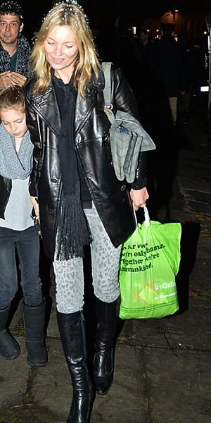 Kate Moss, la neige tombe sur le léopard !