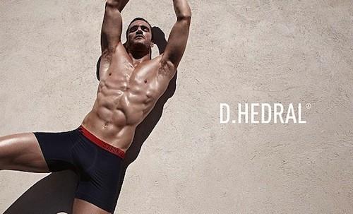 Thom Evans, modèle sexy pour les sous-vêtements D. Hedral