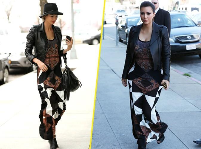 Kim Kardashian et Lily Aldridge : Qui porte le mieux la maxi dress Givenchy ?