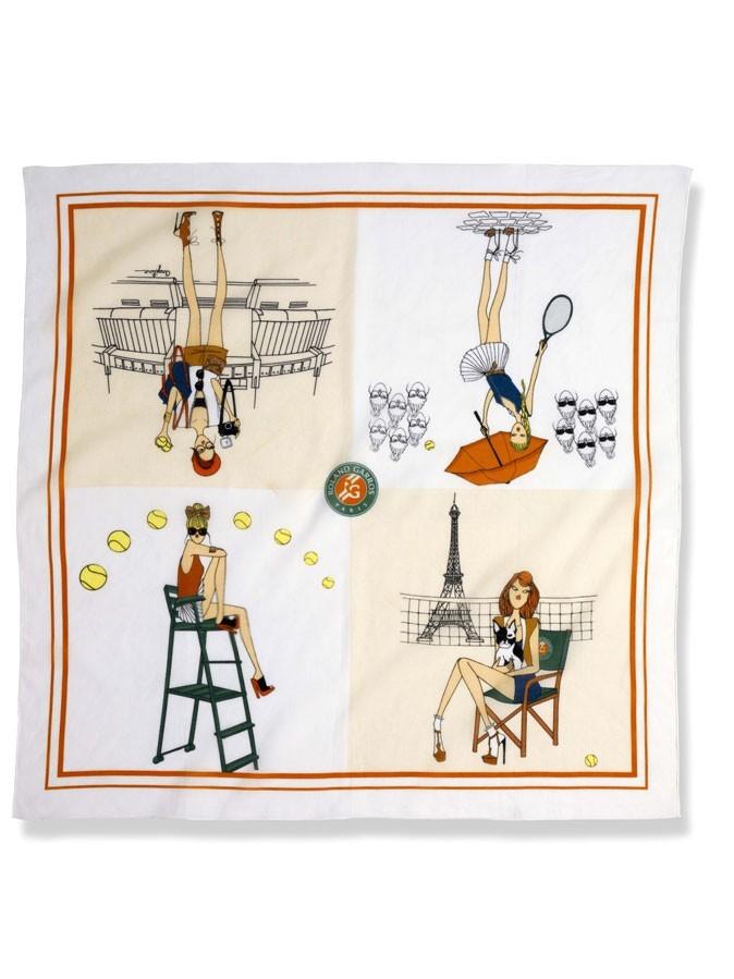 Mode : le foulard Angeline Melin pour Roland-Garros