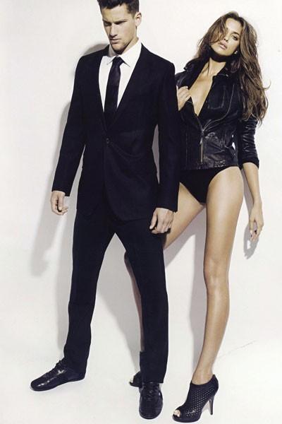 Irina n'a rien à envier à Adriana côté longueur de jambes!