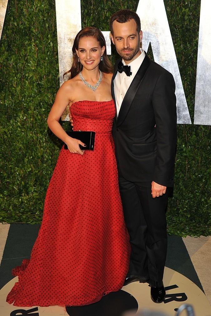 Natalie Portman et son mari Benjamin Millepied à la cérémonie des Oscars 2012