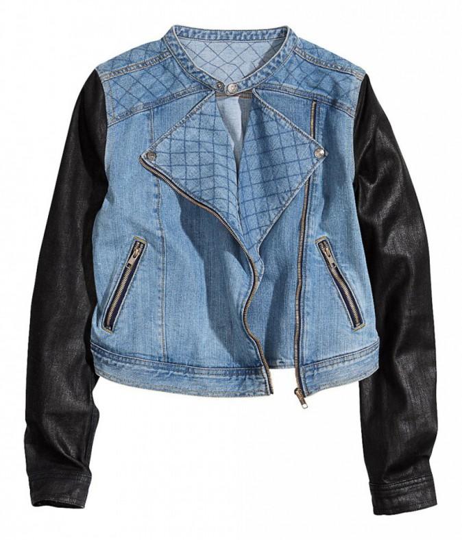 Perfecto en jean, H&M 45€