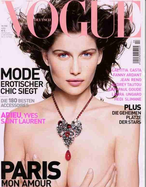 Avril 2002 : couverture du Vogue Allemagne