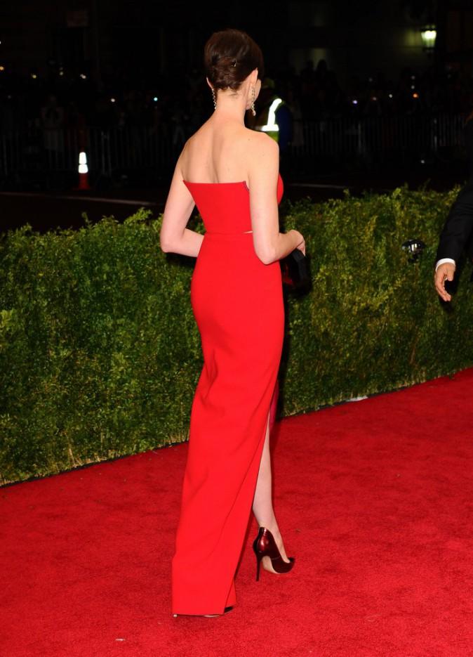 Anne Hathaway en Calvin Klein