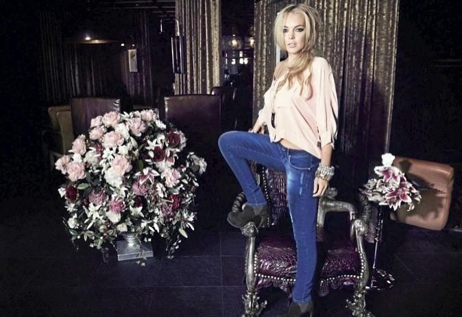 Lindsay Lohan en mode colorée !