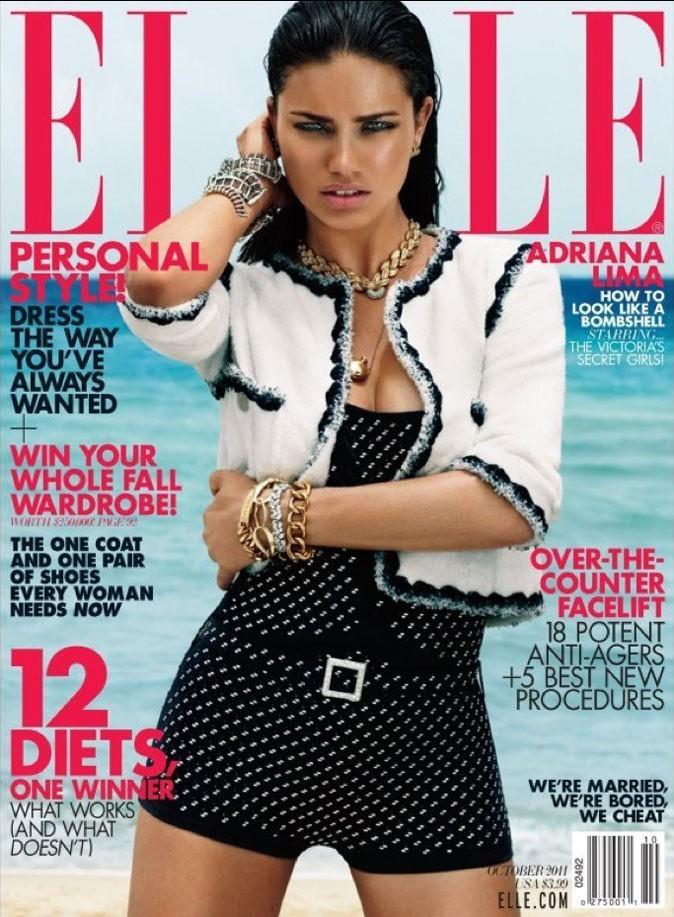 Adriana Lima fait la couverture de Elle !