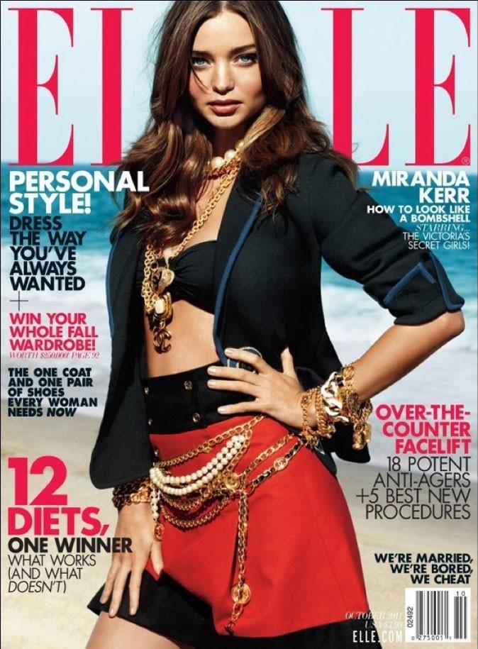 Miranda Kerr fait la couverture de Elle !