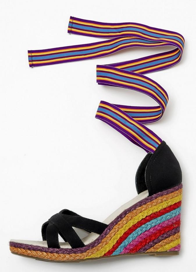 Sandales compensées Coco Hellein x Monoprix
