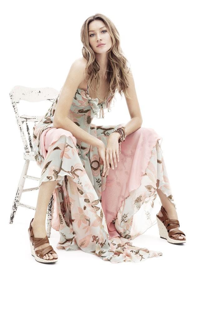 Mode : la robe longue fleurie de Gisele Bündchen pour H&M !
