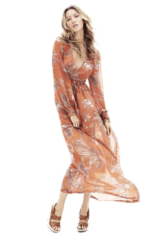 Mode : la robe longue hippie de Gisele Bündchen pour H&M !