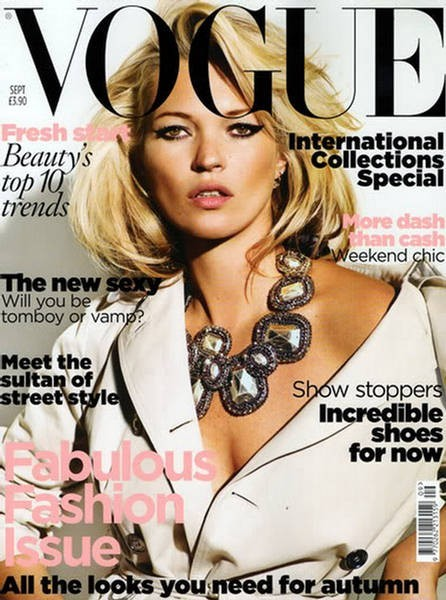 La couverture du Vogue UK en Septembre 2010 !